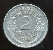 2 FRANCS  morlon alu 1945 C  ( 6 )