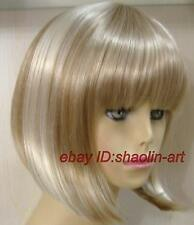 Wigs,clair Brun mixte short Bob cosplay Costume cheveux perruques