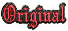 ORIGINAL RED Embroidered Jacket Vest Funny Saying Biker Patch Independent Emblem