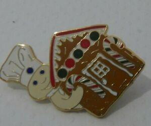 Pillsbury Doughboy Santa's Houses enamel 2008 Tack brooch pin broach