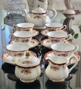 Beautiful Fine Bone China Tea Set For 6
