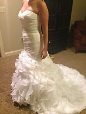 Pronovias Sweetheart  satin garza trumpet Wedding dress