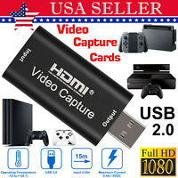 4K 1080p HD HDMI to USB2.0 Video Audio Capture Card Recorder For Windows Android