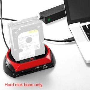 2.5/3.5'' SATA IDE HDD Docking Station Dual Hard Disk Hub Dock Drive e SATA G9M7