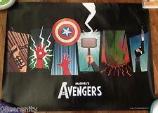Avengers Weapons Poster, Thor's Hammer, Hulk, Iron Man, Captain America 24x18