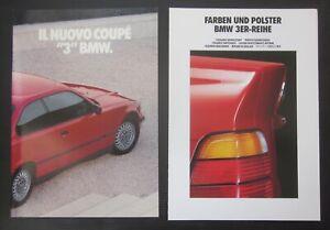 BMW Serie 3 Coupe E36 brochure ita 318is- 320i- 325i + catalogo colori / interni