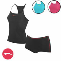 Womens Slazenger Tankini Set Swimsuit Swimming Costume Sizes 8 10 12 14 16 18 20