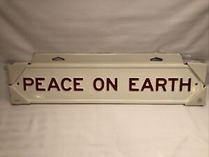 NEW Hearth & And Hand Magnolia PEACE ON EARTH Wall Sign Home Holiday Farmhouse