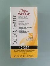 Wella Color Charm Permanent Liquid Haircolor  4G/257 Dark Golden Brown
