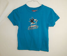 San Jose Sharks NHL Hockey T-Shirt REEBOK Size YOUTH SMALL 8