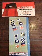 1970 SS FRANCE Passenger List & Deck Plan Rayons De Soleil Cruise FRENCH LINE