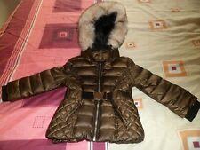 River Island Girls Khaki High Shine Hooded Jacket. Size 12 - 18 Mths.