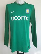 ASTON VILLA 2009-10 PLAYER ISSUE GREEN KEEPERS JERSEY BY NIKE SIZE MEN'S XL NEW