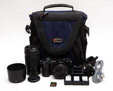 Sony Alpha A6300 24.2MP Digital Camera Body + 16-50mm OSS + 55-210mm OSS (USA)