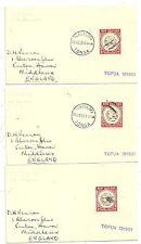 * 1959 3 x NUKUALOFA TONGA MARITIME COVERS TO UK MV TOFUA NEW ZEALAND STAMPS