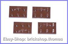 Lego 4 x Platte (2 x 3) - 3021 braun - Reddish Brown Plate Plates - NEU / NEW