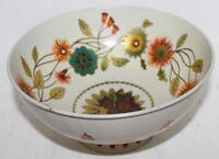 "VTG Baret Ware Compote Bowl-Art Grace Tin Enamel Woodland Pattern Gold - 7 3/8"""