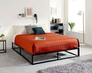 NEW Contemporary 3ft Single Platform Metal Black Strong Bed Frame Only