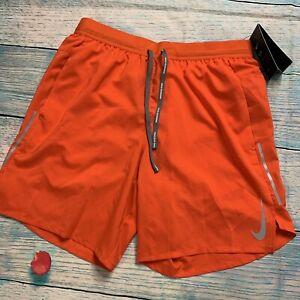 "Nike Flex Stride 7"" Dri-Fit Running Shorts Orange Mens Size Small CT7891-891"