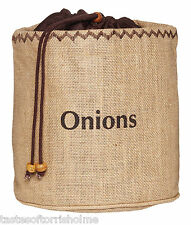 Kitchen Craft Natural Elements Hessian Onion Preserving Bag With Blackout Lining