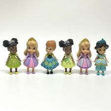Disney Princess Dolls Mini Toddler Posable Figure Lot of 6 Anna Jasmine Rapunzel