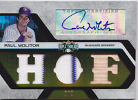 2008 Topps Triple Threads Paul Molitor /9 Auto Jersey Bat Relic GOLD Brewers