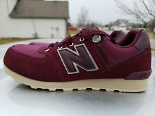 3e6f727b37d67 New Balance 574 Shoes maroon girls boys sz 6Y YOUTH SAME AS 7.5 WOMENS NEW!