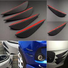 4X Carbon Fiber Universal Front Bumper Fin Body Spoiler Canards Decor Auto Refit
