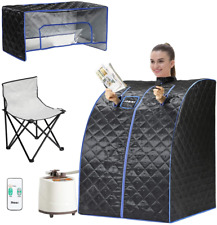 Portable Personal Steam Sauna Single Use Home Spa Saunas for Weight Loss Black