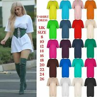 womens  Stripe Printed Baggy Oversize Boyfriend T-Shirt Dress Tunic Long lin Top