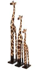 More details for standing single wooden giraffe carved solid wood fair trade handmade bali gir-01
