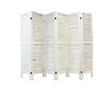 6 Panel Wooden Slatted Room Divider Home Changing Screen Separator Concertina