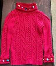 """""""A*"""" GYMBOREE medium (size 7 Dasheight) red girls cable knit sweater"""