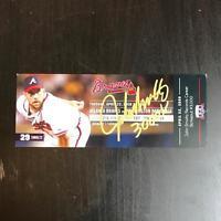 John Smoltz Signed 3000 Strikeout 2008 Atlanta Braves Commemorative Ticket JSA