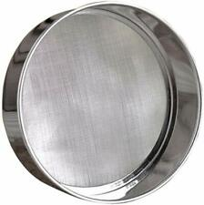 New listing Stainless steel round flour screen filter 40 mesh (6 inch, 18 / 8 steel)