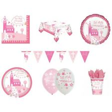 1st HOLY COMMUNION CHURCH First PINK/GIRL Party Range - Tableware & Decorations