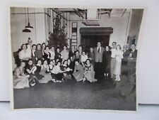 "Vintage Christmas Party 1955 Black and White 8"" x 10"" Photo Tree Office Factory"