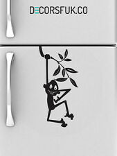 Monkey Fridge Stickers  on black vinyl on A4 size - kitchen stickers