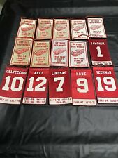 New ListingDetroit Red Wings Replica Stanley Cup & Retired Numbers Banners