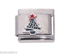 árbol de Navidad 925 Silver La Cima JSC Amuleto Italiano ajuste tamaño clásico