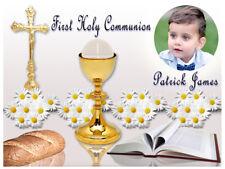 Holy Communion Religious Edible Icing Cake Image Celebration Topper