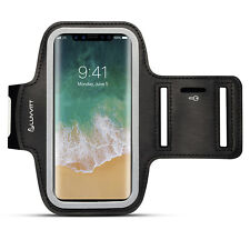 Luvvitt Armband for iPhone X Case Compatible Sports Band with Key Holder - Black