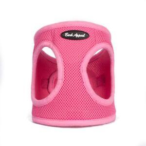 Bark Appeal EZ Wrap Mesh Dog Step In Harness Pink Sizes XXS-XXL