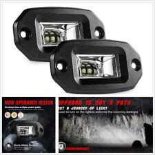Universal Pair 20w Flush Mount LED Pods Flood CREE Work Light Bar Offroad Backup