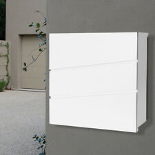 MILKCAN WALL MOUNT LETTERBOX Kensington WHITE Mailbox Fence - Brick Wall