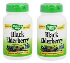 Nature's Way Black Elderberry 575 mg, 100 Vegetarian Capsules - 2 Packs