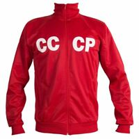Soviet Union CCCP USSR 1970's Retro Football Jacket Tracksuit Zipped Jumper