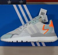 Adidas Nite Jogger Boost Running Shoes Raw-White/Grey/Green/Orange [BD7956] Mens