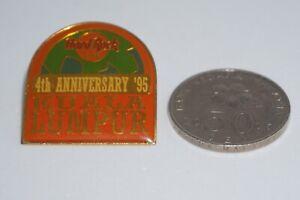 "Hard Rock Cafe : Vintage Kuala Lumpur ""4th Anniversary '95"" pin - RARE"