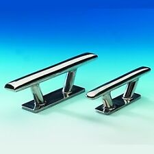 """Stainless Steel Mooring Deck Cleat with Base. 200mm Long (8"""") 316 Stainless X 1"""